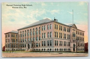 Kansas City MO~Manual Training High School~Glad to Get to North Collins NY~1914
