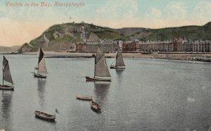 ABERYSTWYTH , Wales , 1909 ; Yachts in tne Bay