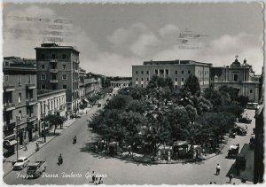 49734  CARTOLINA d'Epoca - FOGGIA citta' : Piazza Umberto Giordano 1958
