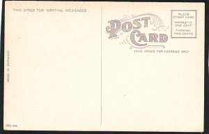 P1447 old unused postcard 17th st. scene from brown palace hotel denver colorado