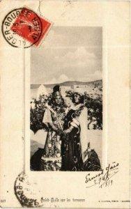 CPA AK Geiser 557 Ouled-Nails sur les terrasses ALGÉRIE (705498)