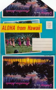 Aloha from HAWAII, 1950-60s; Folder Postcard