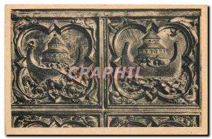 CARTE Postale Old Paris Sainte Chapelle portal of the high chapel the Deluge