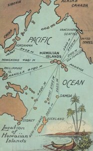 Location of HAWAIIAN ISLANDS , PU-1923 ; Map