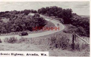 circa 1950 - RPPC - SCENIC HIGHWAY, ARCADIA, WIS.