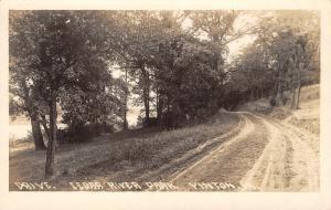 Vinton Iowa~Cedar River Park~Dirt Road Drive Around River~1918 Real Photo~RPPC