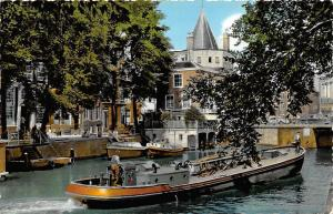 Netherlands, Old Amsterdam, Geldersekade with Weeping Tower 1960