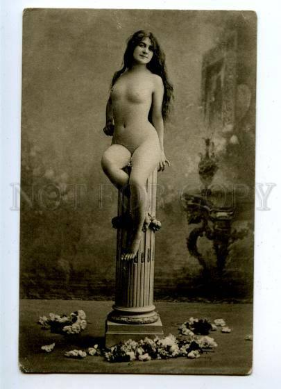 161711 NUDE Woman BELLE Long Hair GODDESS Statue Vintage PHOTO