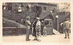 Wooden Noah's Ark Amusement Adult's 10¢ Real Photo Postcard