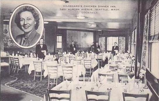 Washington Seattle Hildegards Chicken Dinner Inn Artvue