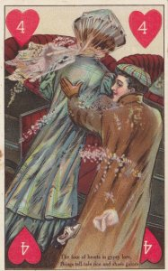 Playing Cards ; Four of Hearts , 1900-10s ; In gypsy lore