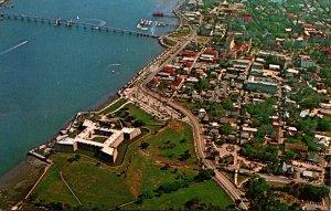 Florida St Augustine Aerial View Of Castillo De San Marcos
