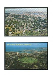 2 Aerial View National Memorial Cemetery Honolulu Hawaii from Punchbowl Postcard