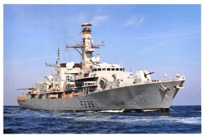 Postcard Royal Navy Ship Type 23 Frigate HMS Monnouth, Gulf 2009 7D