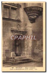 Old Postcard Bourges Hotel Lallemant door and cantilevered