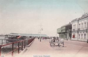 Collyer Quay Singapore Antique Postcard
