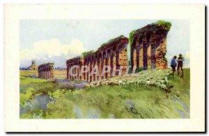 Old Postcard Italy italia di Roma Acquedotto Claudio