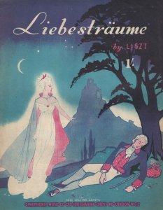 Liebestraume Liszt Rare Cinephonic Cartoon Cover Sheet Music