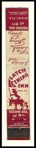 Miami, Florida/FL Mini-Match Cover, Latch String Inn, Biscayne Boulevard