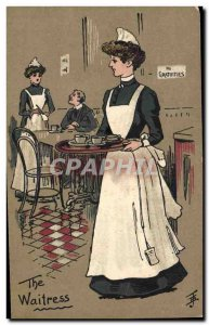 Old Postcard Fantasy Illustrator The Waitress