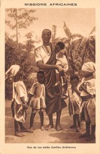 B95146 une de nos belles familles chretiennes  dahomey benin africa types