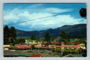 Durango CO Advertisement Silver Spur Motel Scenic View, Chrome Colorado Postcard