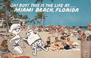 Florida Miami Beach Ocean Bathing At Miami Beach 1959
