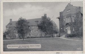 1941 BEAVER FALLS Pennsylvania Pa Postcard Girls Dorm GENEVA COLLEGE Gym