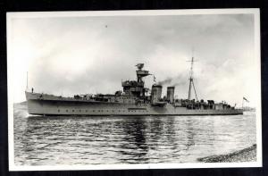 1939 Mint RPPC Postcard Warship British England Navy HMS Cruiser Cairo