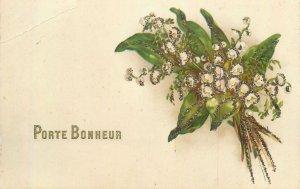 porte bonheur arrangement de bouquet de fleurs Post card