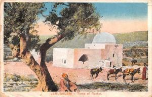 Israel Old Vintage Antique Post Card Jerusalem Tomb of Rachel 1919 Missing Stamp