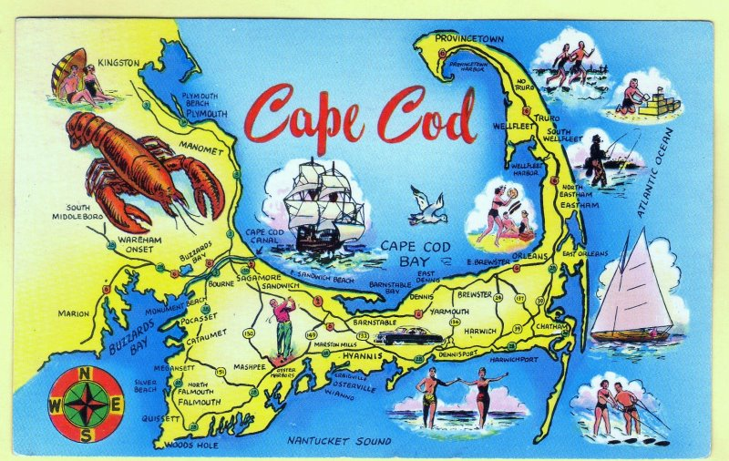 CAPE COD MAP. MASS.  SEE SCAN