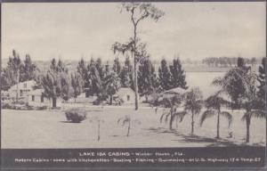 WINTER HAVEN - WINTER HAVEN, glimpse of Lake Ida Cabins 1940s era / BIGGER NOW