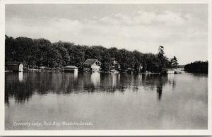 Cromarty Lodge Bala Bay Muskoka Ontario ON Unused Vintage Postcard E38