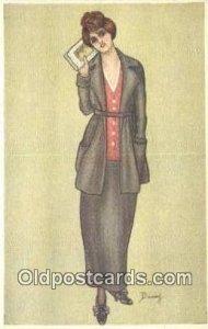 Sereis 462-5 Artist Dinas Postcards Post Cards Old Vintage Antique unused