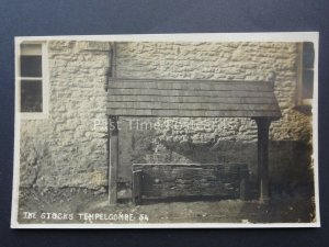 Somerset TEMPLECOMBE The Village Stocks c1917 RP Postcard
