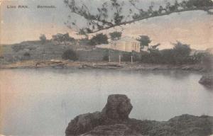 Bermuda Lion Rock Home Waterfront Antique Postcard K61940