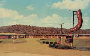 Carrollton Kentucky New Sunset Motel Street View Vintage Postcard K80858