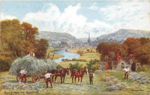 C-1910 Herefordshire UK Ross on Wye Salmon postcard 9908