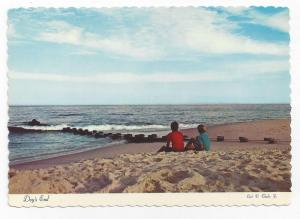 New Jersey Shore Evening Beach Days End Vintage Postcard 4X6