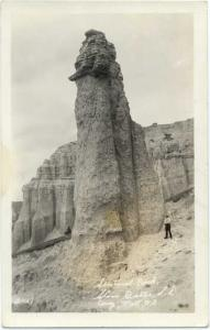 RPPC of Sentinel Rock, Slim Buttes South Dakota SD  AZO Real Photo