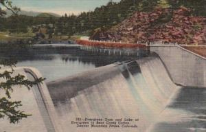 Colorado Evergreen Dam & Lake At Evergreen In Bear Creek Canon Denver Mou...