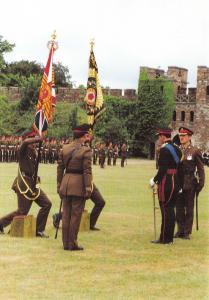 Postcard Royal Regiment of Wales Tercentenary Parade Cardiff Castle 1989 PH1-4