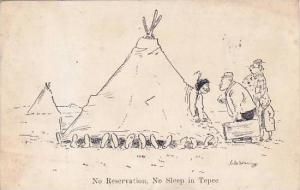 William Standing No Reservation No Sleep In Tepee 1948