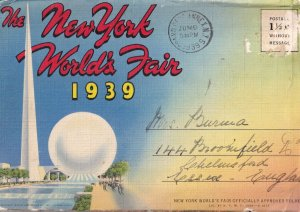 The New Yorks World Fair 1939 WW2 Large Postcard Book
