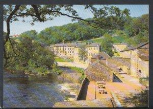 Scotland Postcard - New Lanark Village and The River Clyde     T3615