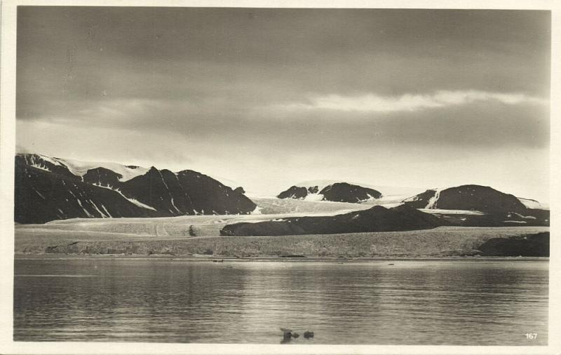 norway norge, SPITSBERGEN SVALBARD, Kings Bay (1930s) RPPC Postcard