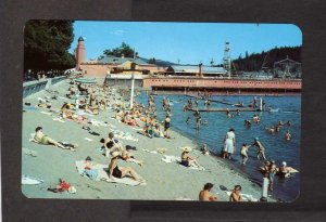 ID Municipal City Beach Coeur d'Alene Idaho Postcard Amusement Park Rides