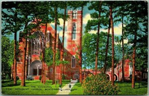Montgomery, Alabama Postcard The Cathedral, First Methodist Church KROPP Linen