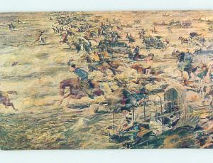 Pre-1980 POSTCARD OF OLD WEST PAINTING AT MUSEUM Bartlesville Oklahoma OK hs9720